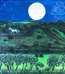 The White Horse of Lillington and the Dark Sky