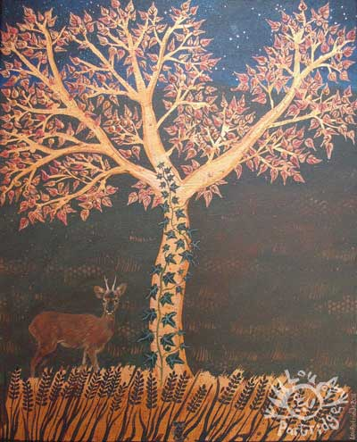 The Copper tree with a deer